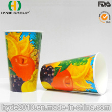 Isolados de copo de papel impresso bebida gelada com alta qualidade (12oz)