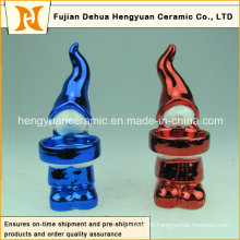 Lovely Colorful Plating Christmas Girl Candle Holders