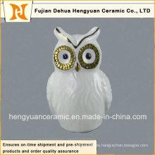 Regalos de cerámica, decoración de búho de cerámica