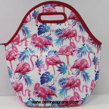 Factory best selling for Neoprene Lunch Cooling Bags Flamingo printing resealable safe lunch bags export to Italy Manufacturers
