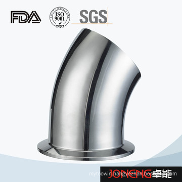 Stainless Steel Sanitary 45D Bend Elbow with Clamp (JN-FT4004)