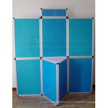 Système de panneau d'affichage pliable (panneaux encadrés en aluminium)
