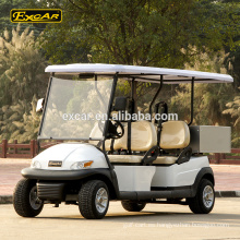 Custom 4 Seats carrito de golf eléctrico 48V Trojan battery Coche de golf eléctrico con Cargo