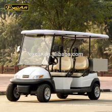 Custom 4 Seats electric golf cart 48V Trojan battery Electric Golf Car with Cargo