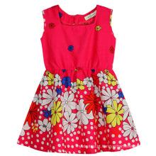 Moda vestido de flor em crianças vestido de roupas com Apprael Sqd-149