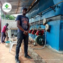 Machine de distillation d'usine de raffinage d'huile de pyrolyse de pétrole brut d'huile de moteur de rebut à diesel