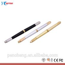 Fabricação de suprimentos caneta tatuagem manual com três agulhas de furo