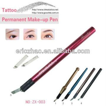 Metal Material Sobrancelha Microblading Tattoo Pen para maquiagem permanente