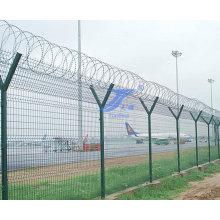 Seguridad en forma de Y que defiende la cerca del aeropuerto
