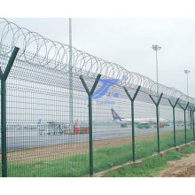 Y Shaped Security Defending Airport Fence