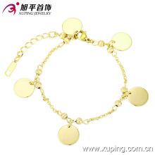 Pulsera de la venta del top de la moda de 73577 xuping con el oro 14k plateado para las mujeres