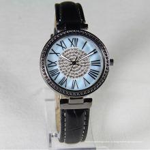 Mulheres de luxo de água à prova de quartzo relógio de design genebra com logotipo