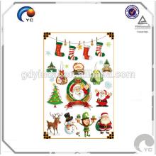 Adesivos de tatuagem de decoração de festa de Natal para crianças de 2017
