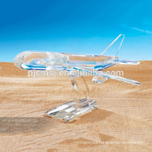 Exalted K9 Crystal Airplane Model,Crystal Aircraft Figurine,Beautiful Glass Plane Mould for Desk Decoration&Business Gifts
