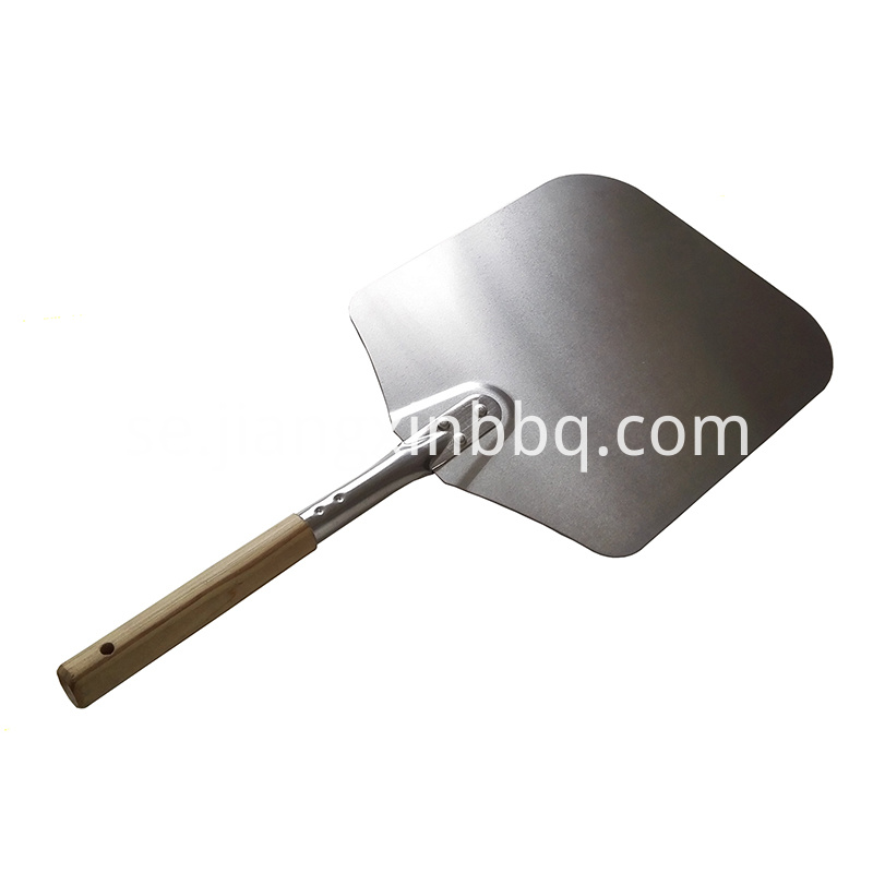 14 Inch Aluminium Pizza Shovel With Wooden Handle