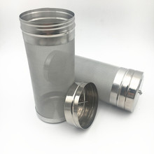 Silberne Farbe 6 x 14 300 Mikron-Edelstahl-Corny Fass Filer für HomeBrew-Bier
