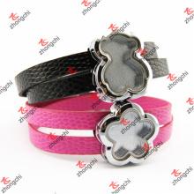 Atacado correia de couro cinta pulseiras de pulso de banda para presentes de moda (swl50919)