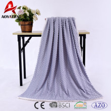 100 polyester polaire solide micromink couverture arrière sherpa