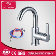 Venda quente puxar pescoço longo para baixo 3 furos lavabo faucet MK23402