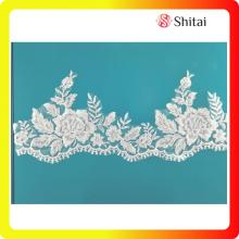 Super Purchasing for for Tull Embroidery Fabric New fashion white wedding lace trimming supply to Japan Exporter
