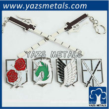 customize Shingeki no Kyojin metal pin/badges with enamel