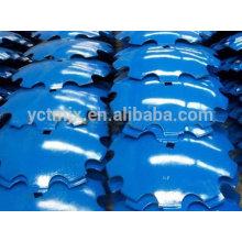 Piezas agrícolas 30MnCrB5 disco de acero hoja de arado con una calidad superior