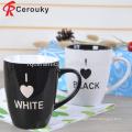 La Chine fabrique des boissons alcoolisées personnalisées, une forme ronde et une tasse de lait en céramique.