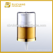 Pompe à lotion en aluminium / pompe à crème en aluminium de 24 mm avec surcharge AS