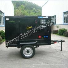 Generador silencioso de 30kVA Yangdong Diesel con remolque móvil
