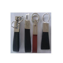 Кожаный брелок для ключей, брелок для промотирования (GZHY-HA013)