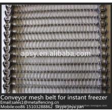 700mm, 800mm large U tissé ceinture en acier inoxydable de convoyeur de maille de convoyeur pour le congélateur instantané