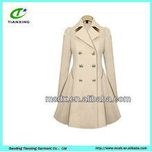 korea fashion windproof long trench jackets for women