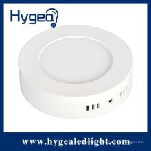 Brilho elevado 12W, redondo, superfície montada luz do painel conduzido