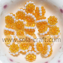 10MM Fantástico plástico cristal Sandwich Berry Beads color naranja