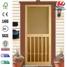 5-Bar Stainable Screen Wood Door