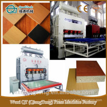 Short cycle hot press: furniture panels/Hydraulic hot press Machine/Melamine paper laminating machine