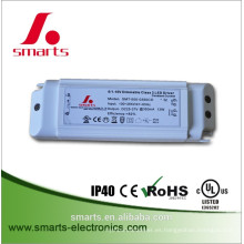 Controlador de luz LED regulable CE UL 0-10V (350mA 500mA 700mA 900mA)
