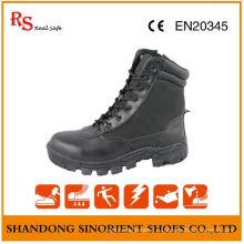 Военные пустынные сапоги с черной кожаю действия RS036