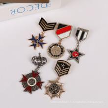 Insigne en métal bon marché de haute qualité de bouton pour le produit en métal