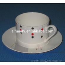 taza de té establece la vajilla de la taza de cerámica