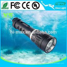 Sauvegarde de la plongée Light Diving Mask Torch Lampe de poche sous-marine avec 1000lumens Interrupteur rotatif magnétique