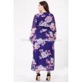 New ladies plus size dress Women latest formal dress patterns maxi dress