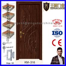 Dernière porte en bois de chambre de conception