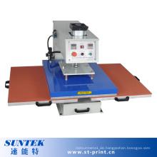 Pneumatische Doppelstationen Wärmepresse Maschine mit Ce-Prüfung