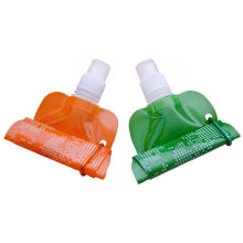 Customized 3 Layes Plastic Drinking Foldable Collapsible Water Bottles For Office Workers