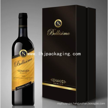 Set up Wine Packaging Paper Box with Foil Stamping
