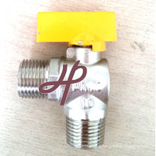 angle type gas ball valve