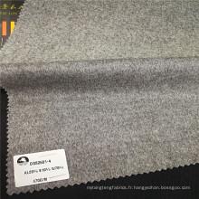 Tissu en laine et cachemire doux et léger poids 470g / m