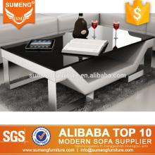 Modèles de meubles en bois SUMENG en acier inoxydable avec table basse