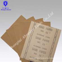 Abrasive sandpaper for wood